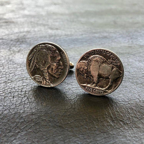 Cuff Links, Buffalo Nickels, NY-CF1092
