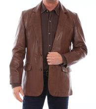 Leather Blazer Western Cut Chocolate 501-427
