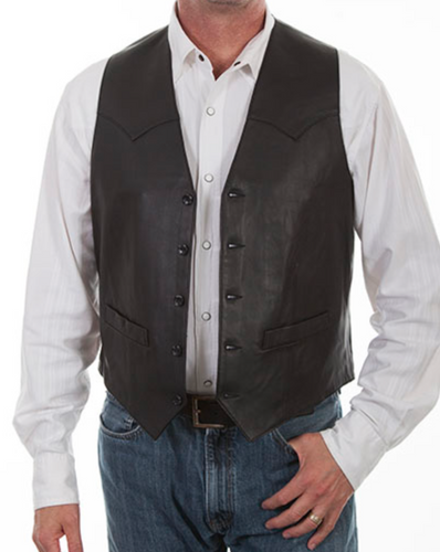 Man-Wearing-Black-Leather-Vest-Western-Cut-by-Scully-503-11