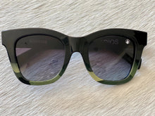 Adios Sunglasses in Green Camo, Black Gradient Lens, Camo Frame