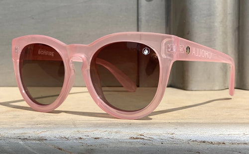 Cholla Sunglasses in Pink, Smoke Lens, Pink Frame