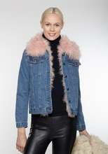 Beautiful-Woman-Wearing-Denim-Jacket-with-Tibet-Wool-Lining-From-Linda-Richards-4770