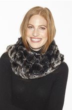 Scarf, Infinity Scarf in Genuine Rex Rabbit Fur, IN39