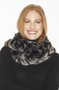 Genuine Fur Infinity Scarf IN39