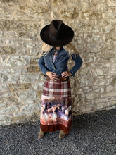 Beautiful-Woman-Wearing-The-In-The-Saddle-Maxi-Skirt-by-Aratta-ED19I83
