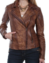 Beautiful-Woman-Wearing-a-Brown-Leather-Jacket-by-Scully-L87