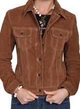 Brown-Suede-Leather-Jean-Jacket-by-Scully-L107