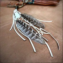 Clip, Feather & Leather with Druzy Stone, Cream, BK-KY1126E