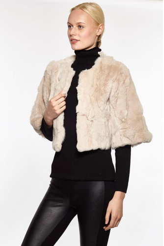 Cropped-Rabbit-Fur-Coat-by-Linda-Richards-RS550-Champagne