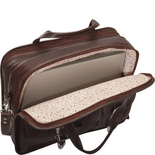 Briefcase in Hand Tooled Leather, Multi Colors 370