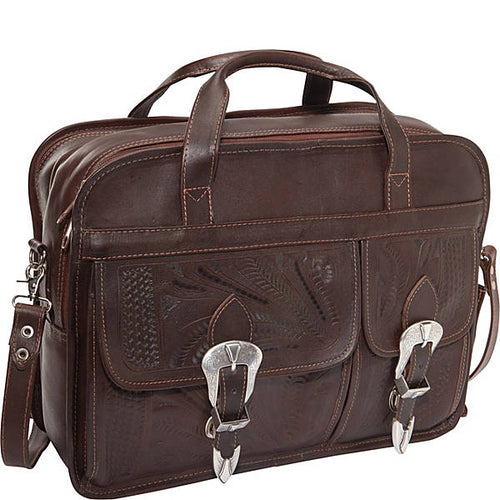 Hand Tooled Leather Briefcase, Multi Colors 370