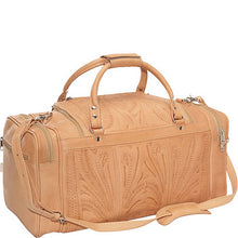 Hand Tooled Leather Small Duffle Bag, Multi Colors 480S