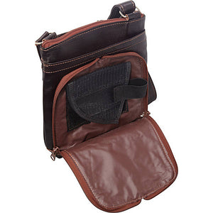 Handtooled Leather Conceal Carry Cross Body Purse, Multi Colors 8408