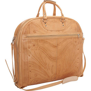 Hand-Tooled-Leather-Garment-Bag-by-Ropin-West-809-Natural