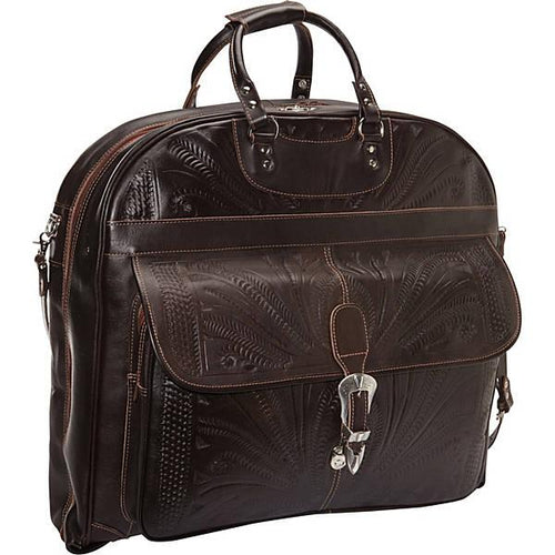 Hand-Tooled-Leather-Garment-Bag-by-Ropin-West-809-Brown