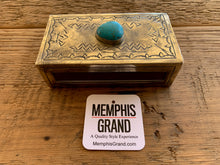 Matchbox Cover with Turquoise, WJA-018-T