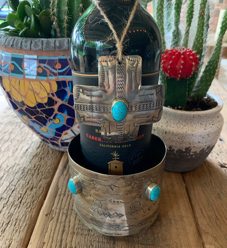 Wine Coaster with Bottle Ornament