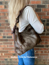 Wildebeest Hide Leather BoHo Handbag, Three Sizes, 330H-331H-332H