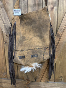 Antelope Bag with Cascading Fringe 2016H Large