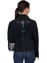 Suede Leather Jacket with Fringe & Conchos L152
