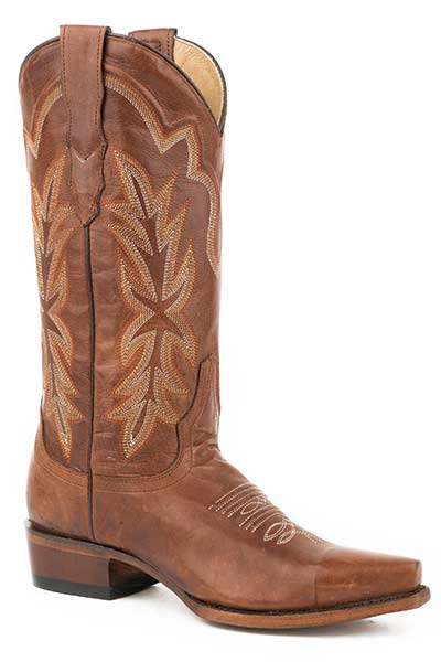 Ladies-Burnished-Brown-Snip-Toe-Boot-by-Stetson-6105-0629