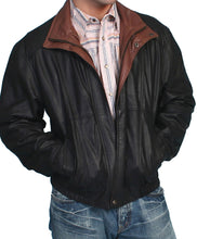 Man-Wearing-Black-Featherlite-Leather-Jacket-by-Scully-48