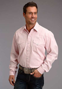 Man-Wearing-Pink-Western-Shirt-by-Stetson