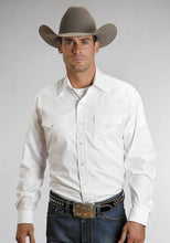 Pinpoint Oxford Cotton, Solid White Western Snap Shirt 0465-1025