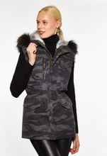 Camo Vest with Genuine Fur Trim 4403