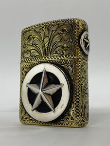Fully Hand Engraved Custom Brass Armor Zippo Lighter