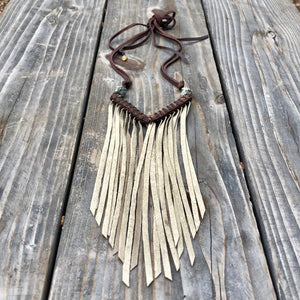 Chevron & Fringe Necklace, WD-N1061