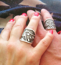 Solid-Sterling-Silver-Hand-Engraved-American-Flag-Rings-by-Silver-King-USA