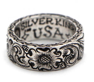 Solid-Sterling-Silver-Hand-Engraved-King-Ring-by-Silver-King-USA