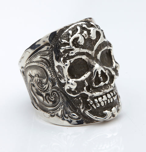 Sterling-Silver-Skull-Ring-by-Silver-King-RF12