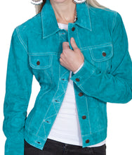Turquoise-Suede-Leather-Jean-Jacket-by-Scully-L107