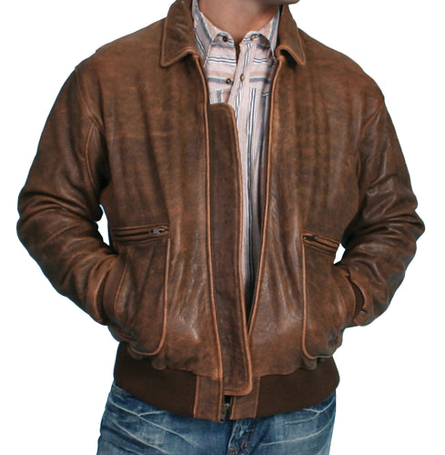 Vintage-Brown-Leather-Bomber-Jacket-by-Scully-714