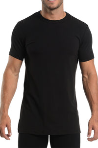 Wood-Brand-Mens-Crew-Neck-Undershirt-6100-Black