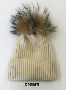 Wool-Ribbed-Stocking-Cap-with-Genuine-Fur-Pom-Pom-by-Linda-Richards-HA11