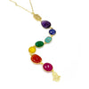 Gemstone 7 Chakra Necklace - Long
