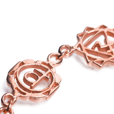 7 Chakras Necklace Rose Gold