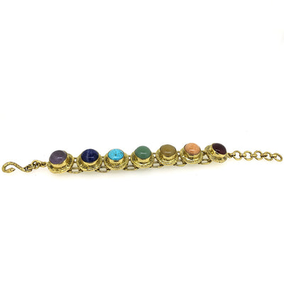 7 Chakra Articulated Statement Bracelet
