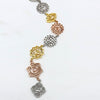 7 Chakras Necklace Tri Color Rose Gold, Silver, and Yellow gold