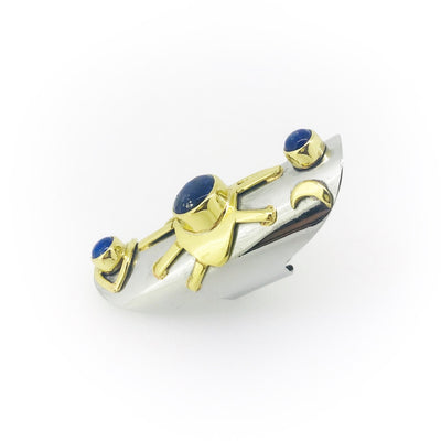 Eye See You Lapis Talisman Long Ring