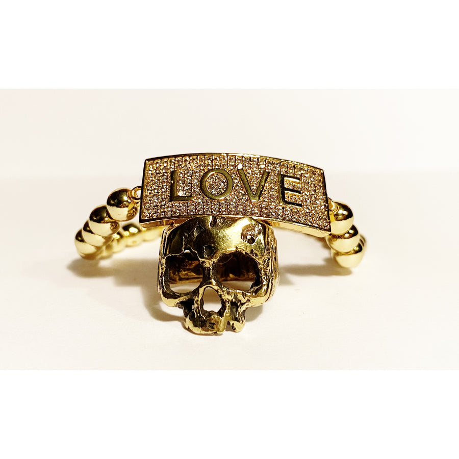 Gold & Bling LOVE bracelet