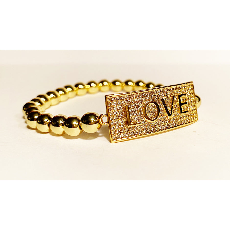 LOVE is ALL !  Bracelet Gold
