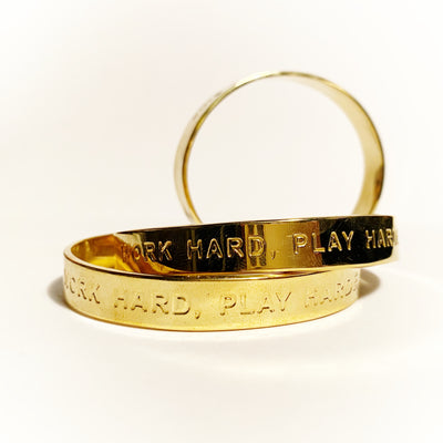 WORK HARD - PLAY HARDER Unisex Bangle