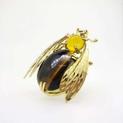 Sacred Bee Important Ring Tiger's Eye