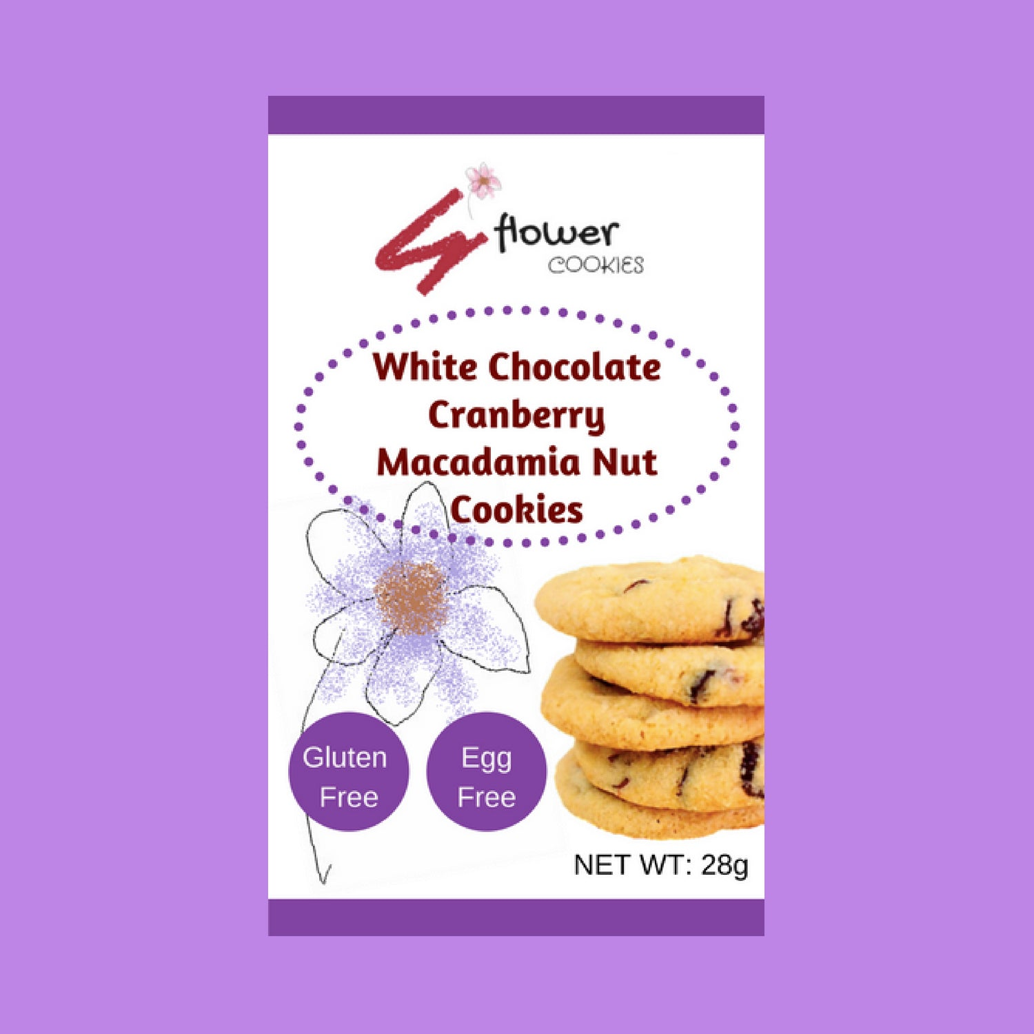 Gluten Free White Chocolate Cranberry Macadamia Nut Cookies