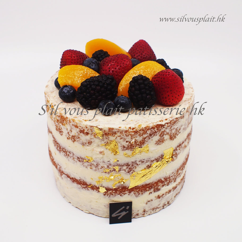 Seasonal Mixed Fruit Semi-Naked Chiffon Cake