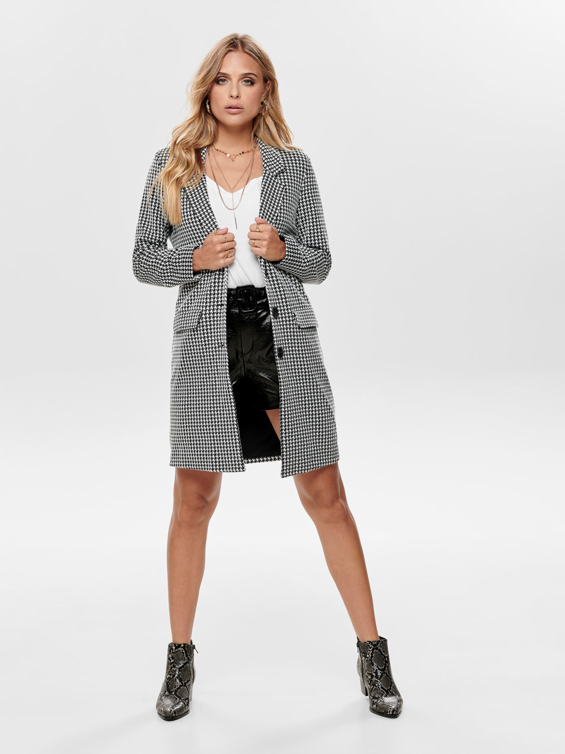 Chaqueta Jacqueline De Yongbesty Fall Hounds Tooth